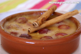 Natillas al horno con cerezas